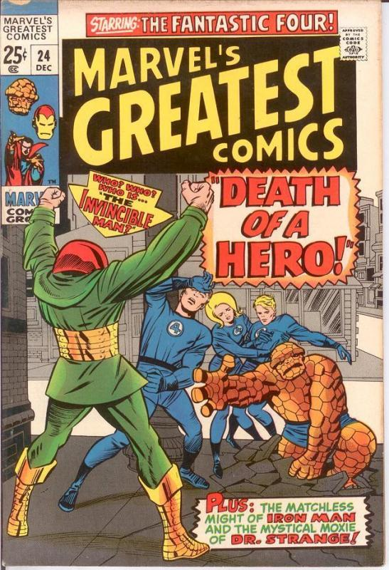 MARVELS GREATEST COMICS 24 VG-F Dec. 1969 COMICS BOOK