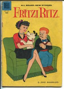 Fritzi Ritz #59 1958-Dell-Ernie Bushmiller-Charles Schulz-Peanuts-rare issue-G-