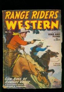 Range Riders Western Pulp December 1950- Steve Reese- Lead and Flame- VG