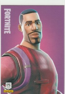 Fortnite Radiant Striker 185 Rare Outfit Panini 2019 trading card series 1