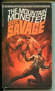 DOC SAVAGE-THE MOUNTAIN MONSTER-#84-ROBESON-VG/FN-BORIS VALLEJO-1ST ED VG/FN