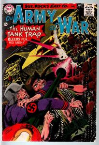 OUR ARMY AT WAR #156 1965-DC WAR COMIC-SGT. ROCK-VG VG
