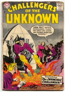 Challengers Of The Unknown #3 1958- JACK KIRBY art- DC Comics G