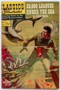 Classics Illustrated - 20,000 Leagues Under the Sea #47 HRN 166 FN+ 6.5