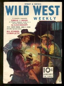 WILD WEST WEEKLY-CIRCLE J NOVEL-JAN 10 1942 VF