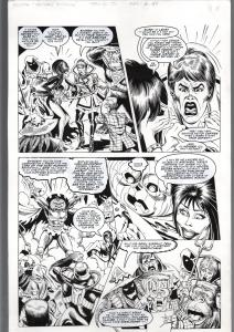 TOD SMITH-ELVIRA #152-HOLIDAY HUMBUG-ORIGINAL ART PAGE 14--QUEEN 'B' PROD FN