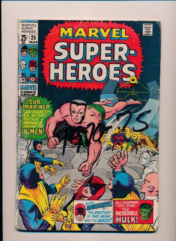 Marvel Super-Heroes HULK DAREDEVIL X-MEN #25 GOOD/VERY GOOD (SRU562)