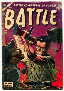 Battle #30 1954-Atlas War Golden Age- Hitler story G/VG