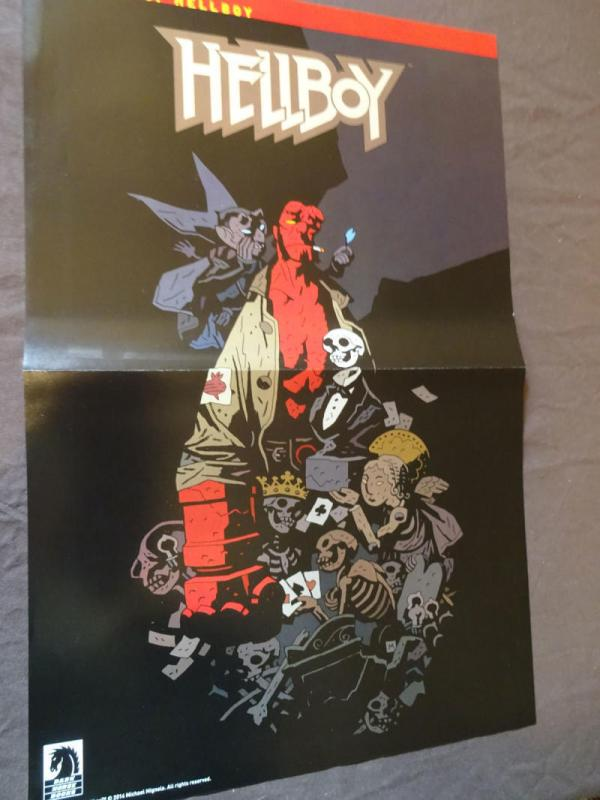 HELLBOY Promo Poster, 2014, Unused, Mike Mignola, In Hell, more in our store