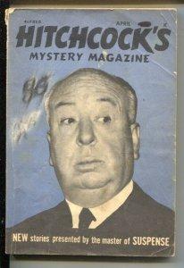 Hitchcock's Mystery Magazine 4/1971-Alfred Hitchcock photo cover-Bill Bronzin...