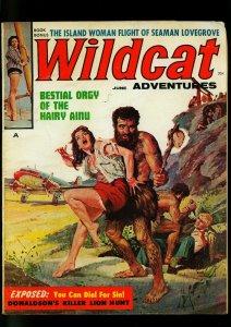 Wildcat Adventures Pulp Magazine June 1960- Basil Gogos Caveman - Cheesecake- VG