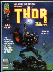MARVEL PREVIEW #10 comic magazine 1975-THOR