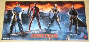 Daredevil the Movie full cast poster - 13 x 26 - elektra - bullseye - kingpin