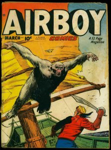 Airboy Col 7 #2 1950- Giant Ape cover- The Heap G+