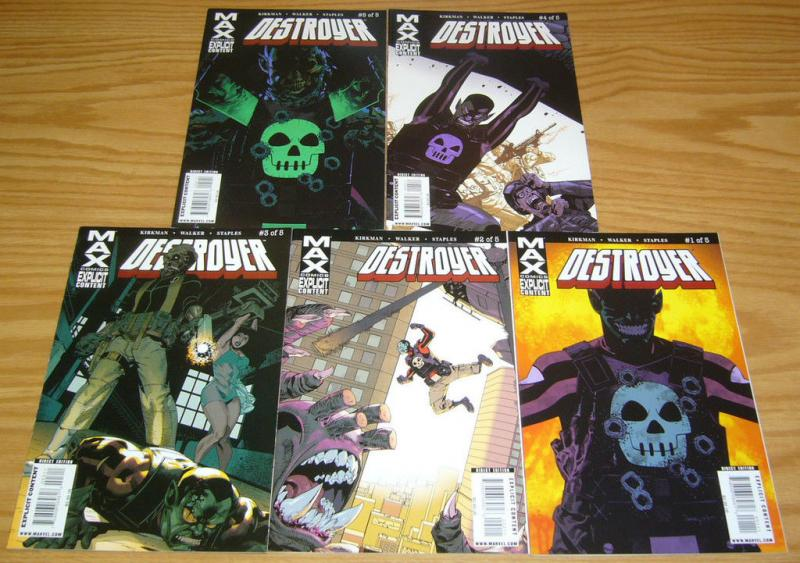 Destroyer #1-5 VF/NM complete series ROBERT KIRKMAN cory walker MARVEL MAX SET