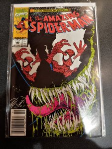 Amazing Spider-Man #346 Venom Returns Erik Larsen (Apr 1991 Marvel) Great Cover