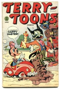 Terry-Toons #21 1943- Timely Funny Animals- Nazis- VG+