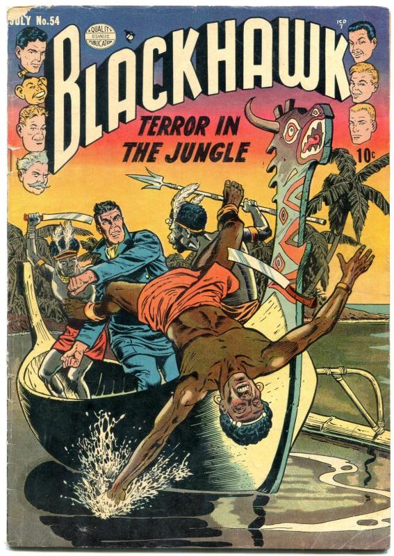 Blackhawk #54 1952- Reed Crandall- Golden Age Comic VG-