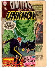 Challengers Of The Unknown # 70 FR DC Comic Book 1969 CD1