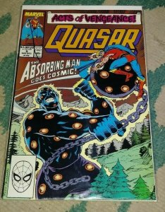 quasar # 5 1989 marvel acts of vengeance  + absorbing man cosmic