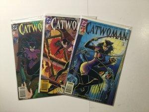 Catwoman 1-3 1 2 3 Newsstand Edition Lot Run Set Near Mint Nm Dc Comics