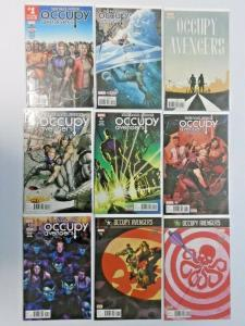 Occupy Avengers run #1 to #9 no #4 9 different books NM (2016)