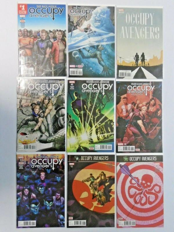 Occupy Avengers run #1 to #9 no #4 - 9 different books - see pics - NM - 2016