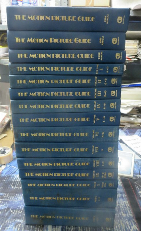 Motion Picture Guide Nash & Ross 10 Volumes + 2 Vol Index + 86, 87, 88 Annuals!