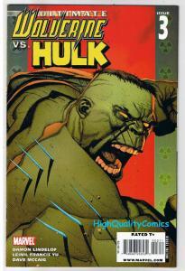 ULTIMATE WOLVERINE vs HULK #3, Claws vs Brawn, 2006, NM+