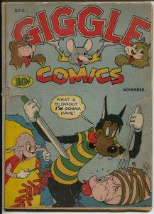 Giggle #2 193-ACG-bondage-torture-fireworks-WWII era-VG-