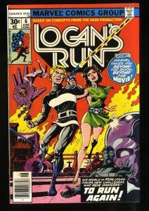 Logan's Run #6 FN+ 6.5 1st Solo Thanos!