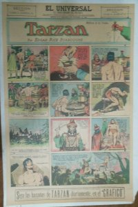 Tarzan Sunday Page #611 Burne Hogarth from 11/22/1942 in Spanish! Full Page Size