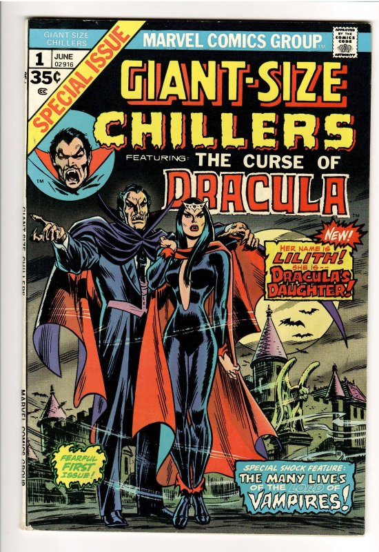 GIANT SIZE CHILLERS #1-VF 1st LILITH,DRACULAS DAUGHTER-MOVIE??