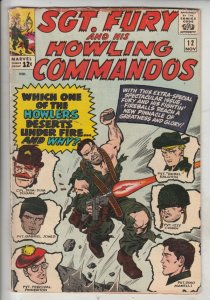 Sgt. Fury and His Howling Commandos #12 (Nov-64) VG/FN+ Mid-Grade Sgt. Fury, ...