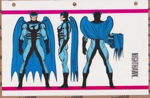 Official Handbook of the Marvel Universe Sheet- Nighthawk