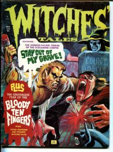 Witches Tales #6  1972-Eerie Pubs-werewlf-Dracula-horror-terror-VG