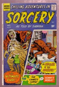 CHILLING ADVENTURES IN SORCERY #2 1972 HORROR--SABRINA-very good plus VG+