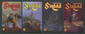 Sinbad The Four Trials #1  #2  #3  #4 (SET) 9.4 NM - 9.6 NM+  1989