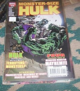 MONSTER  SIZE  HULK #1  2008  marvel one shot  WEREWOLF BY NIGHT FRANKENSTINE