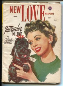 New Love 1/1954-Pin-up  girl cover-Editor Peggy Graves-Pulp stories Phyllis G...
