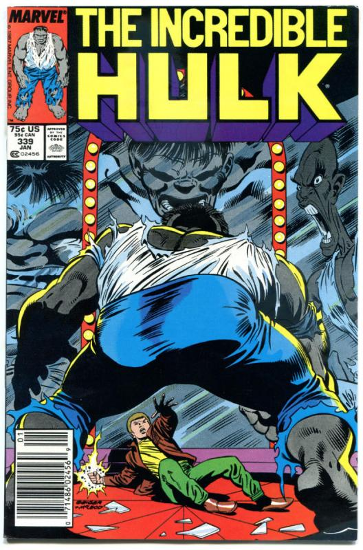 Incredible HULK #339, VF+, Todd McFarlane, Peter David,Grey,more Marvel in store
