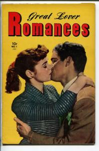 GREAT LOVER ROMANCES #1 1951-TOBY-1ST ISSUE-ALEX SCHOMBURG-vf minus
