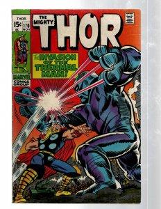 Mighty Thor # 170 FN/VF Marvel Comic Book Loki Odin Asgard Sif Avengers Hulk RB8