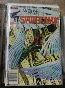 Web of spider-man # 3 1985 marvel  -vulture  byrne cover