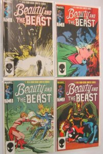Beauty and the beast set:#1-4 8.0 VF (1985)
