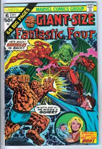 Giant-Size Fantastic Four #6 (Oct-75) VF+ High-Grade Fantastic Four, Mr. Fant...