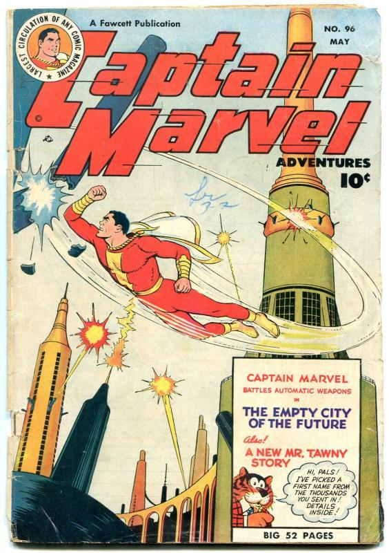 Captain Marvel Adventures #96 1949- Mr Tawny- Golden Age