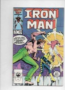IRON MAN #210, VF Tony Stark, Happy, 1968 1986, more IM in store, Marvel