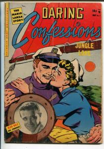 Daring Confessions #7 1953-1st issue-Alan Dale-Mario Lanza-babe in bondage-VG