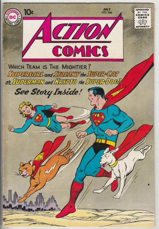 Action Comics #266 (Jul-60) VF/NM High-Grade Superman, Supergirl